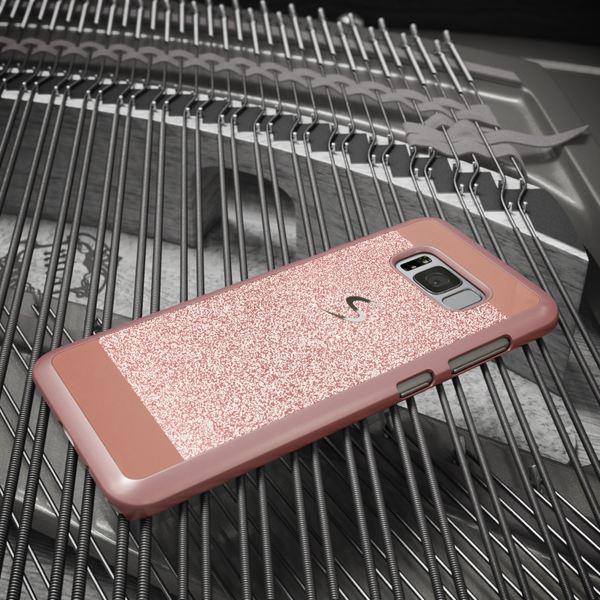 NALIA Handyhülle kompatibel mit Samsung Galaxy S8 Plus, Glitzer Slim Hard-Case Back-Cover Schutz-Hülle, Handy-Tasche im Glitter Sparkle Design, Dünnes Bling Etui Smart-Phone Skin – Bild 4