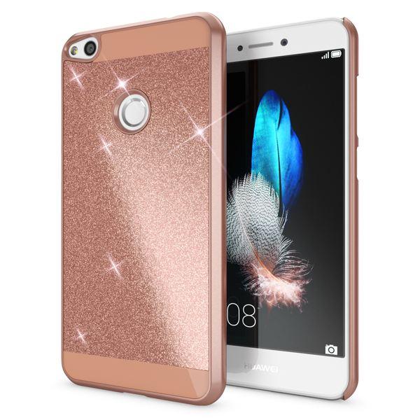 NALIA Handyhülle kompatibel mit Huawei P8 Lite 2017, Glitzer Hard-Case Back-Cover Schutz-Hülle, Handy-Tasche im Glitter Sparkle Design, Dünnes Bling Strass Etui Smart-Phone Skin – Bild 12
