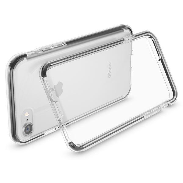 NALIA Handyhülle kompatibel mit iPhone 8 / 7, Durchsichtiges Slim Silikon Case Transparente Rückseite & Farbiger Bumper, Crystal Schutzhülle Dünn, Handy-Tasche Back-Cover Skin Hülle – Bild 23