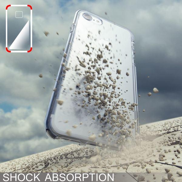 NALIA Handyhülle kompatibel mit iPhone 8 / 7, Durchsichtiges Slim Silikon Case Transparente Rückseite & Farbiger Bumper, Crystal Schutzhülle Dünn, Handy-Tasche Back-Cover Skin Hülle – Bild 21