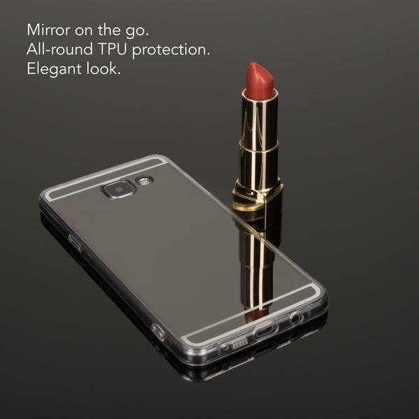 NALIA Spiegel Hülle kompatibel mit Samsung Galaxy A3 2016, Ultra-Slim Mirror Case Cover Silikon Schutzhülle, Dünne Handyhülle Backcover verspiegelt, Handy-Tasche Smart-Phone Etui – Bild 6