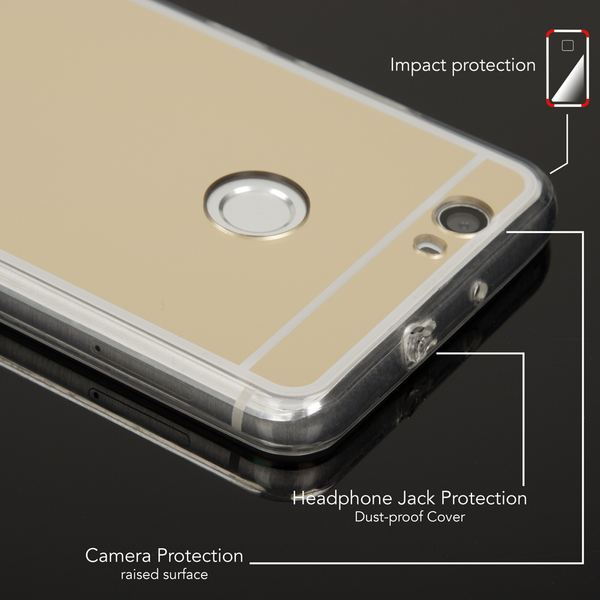 NALIA Spiegel-Handyhülle für Huawei Noval, Ultra-Slim Mirror Case Cover TPU Silikon-Hülle, Dünne Schutz-Hülle Backcover verspiegelt, Handy-Tasche Bumper Phone Etui für Huawei Nova – Bild 7