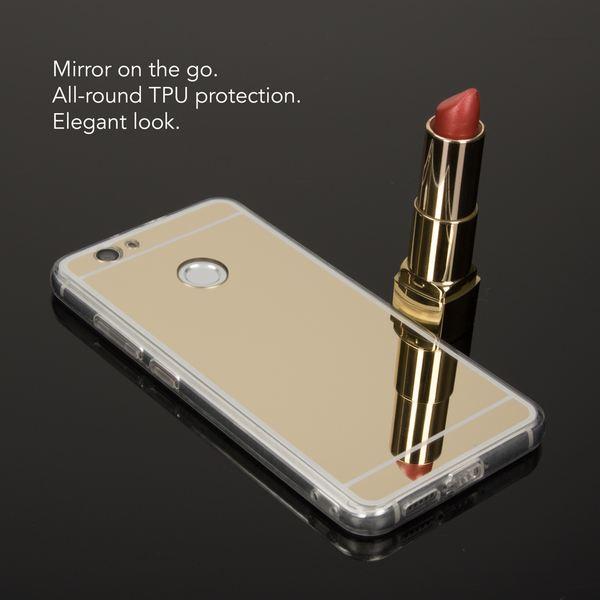 NALIA Spiegel-Handyhülle für Huawei Noval, Ultra-Slim Mirror Case Cover TPU Silikon-Hülle, Dünne Schutz-Hülle Backcover verspiegelt, Handy-Tasche Bumper Phone Etui für Huawei Nova – Bild 9