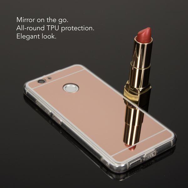 NALIA Spiegel-Handyhülle für Huawei Noval, Ultra-Slim Mirror Case Cover TPU Silikon-Hülle, Dünne Schutz-Hülle Backcover verspiegelt, Handy-Tasche Bumper Phone Etui für Huawei Nova – Bild 13