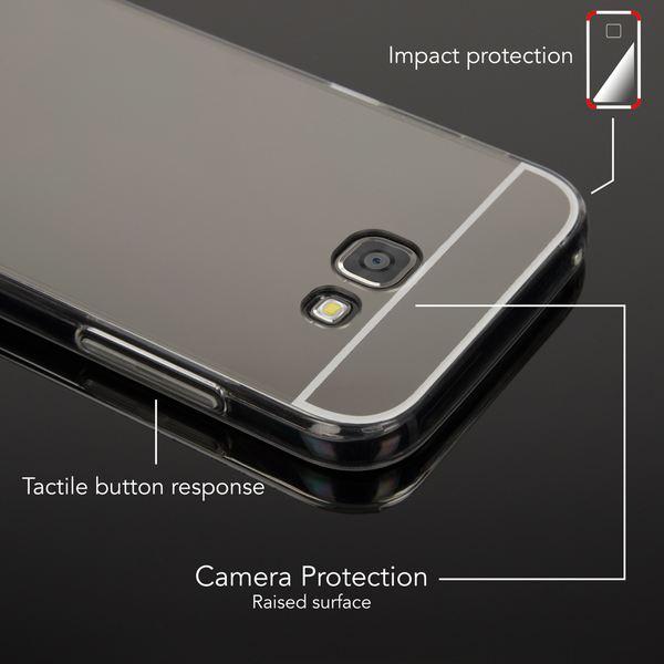 NALIA Spiegel Hülle kompatibel mit Samsung Galaxy A5 2017, Ultra-Slim Mirror Case Cover Silikon Schutzhülle, Dünne Handyhülle Backcover verspiegelt, Handy-Tasche Smart-Phone Etui – Bild 3