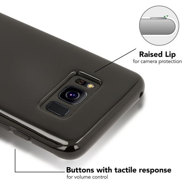 NALIA Handyhülle kompatibel mit Samsung Galaxy S8, Ultra-Slim Silikon Case Cover, Dünne Crystal Schutzhülle Handy-Tasche Schale Backcover Bumper Etui, TPU Smart-Phone Gummi Hülle Skin – Bild 2