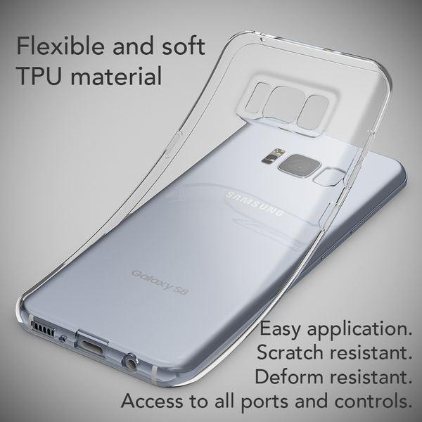 NALIA Handyhülle kompatibel mit Samsung Galaxy S8, Ultra-Slim Soft Silikon Case Cover, Crystal Clear Schutzhülle Dünn Durchsichtig, Etui Handy-Tasche Backcover Bumper Smart-Phone Hülle - Transparent – Bild 3