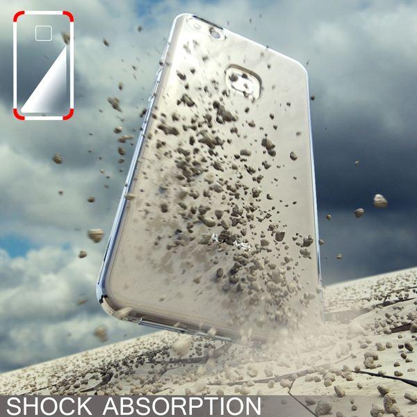 NALIA Handyhülle für Huawei P10 Lite, Slim Silikon Motiv Case Cover Crystal Schutz-Hülle Dünn Durchsichtig, Etui Handy-Tasche Backcover Transparent Bumper für P10Lite - Transparent – Bild 7