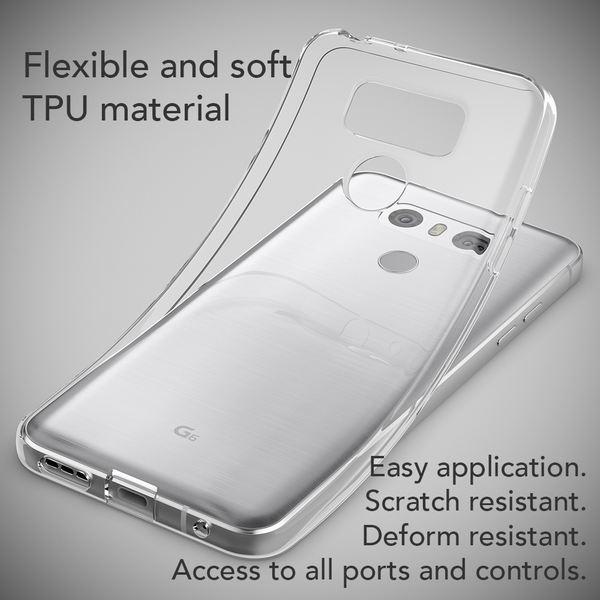 NALIA Handyhülle für LG G6, Slim Silikon Motiv Case Cover Crystal Schutz-Hülle Dünn Durchsichtig, Etui Handy-Tasche Backcover Transparent Bumper für G-6 Smart-Phone - Transparent – Bild 4