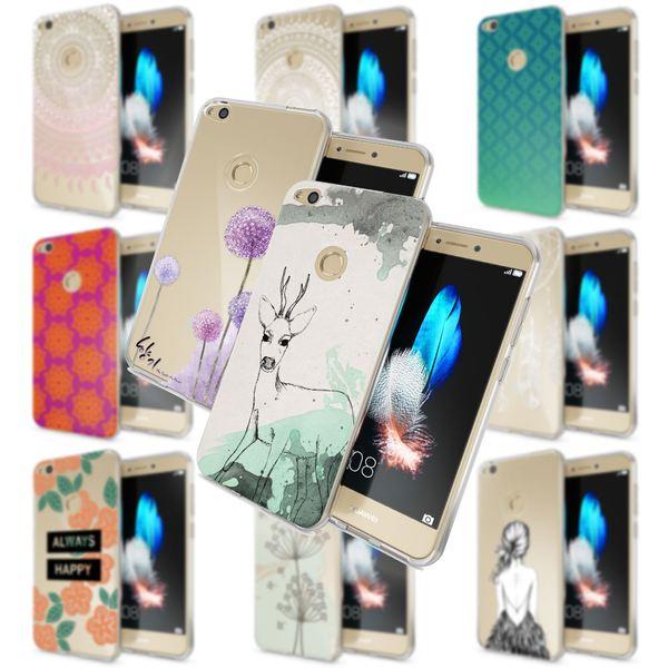 NALIA Handyhülle für Huawei P8 Lite 2017, Slim Silikon Motiv Case Crystal Schutz-Hülle Dünn Durchsichtig Etui Handy-Tasche Back-Cover Transparent Bumper für P8Lite-17 – Bild 1