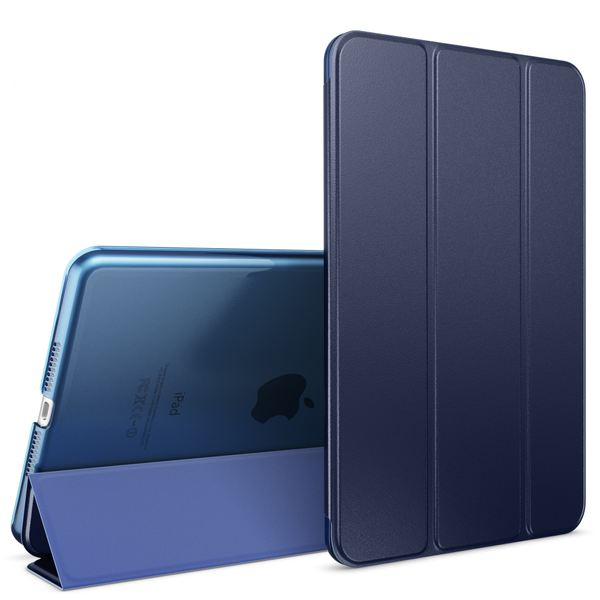 NALIA Smart-Case für Apple iPad Mini 4, Ultra-Slim Cover Dünne Tablet Schutzhülle, Kunst-leder Hardcase Multi-Ständer Tasche, Display-Schutz & Backcover Flip-Case Klapphülle Sleeve - Dunkelblau – Bild 1