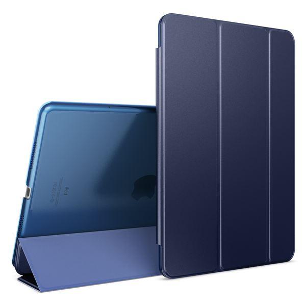 NALIA Smart-Case kompatibel mit iPad Pro 2016 (9,7'), Slim Cover Dünn Tablet Schutzhülle, Kunst-leder Hardcase Multi-Ständer Tasche Display-Schutz& Backcover Flip-Case Klapphülle Sleeve - Dunkelblau – Bild 1
