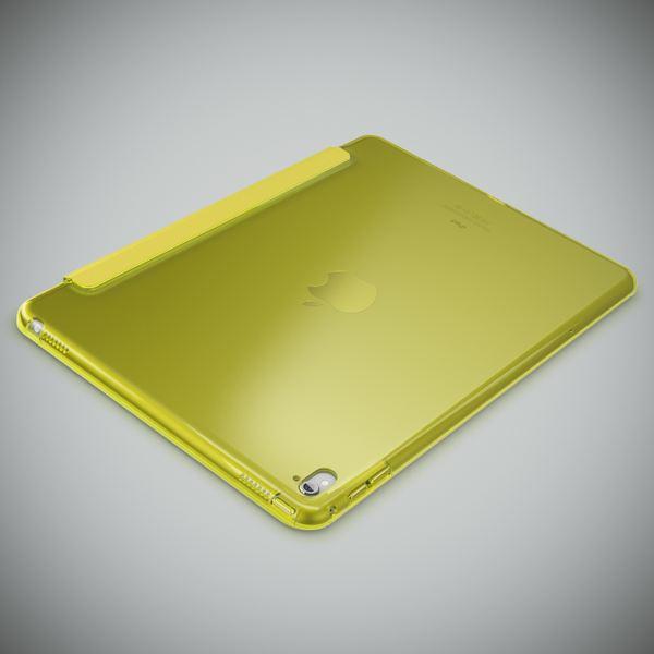 NALIA Smart-Case kompatibel mit iPad Pro 2016 (9,7'), Slim Cover Dünn Tablet Schutzhülle, Kunst-leder Hardcase Multi-Ständer Tasche Display-Schutz& Backcover Flip-Case Klapphülle Sleeve - Gelb Grün – Bild 3
