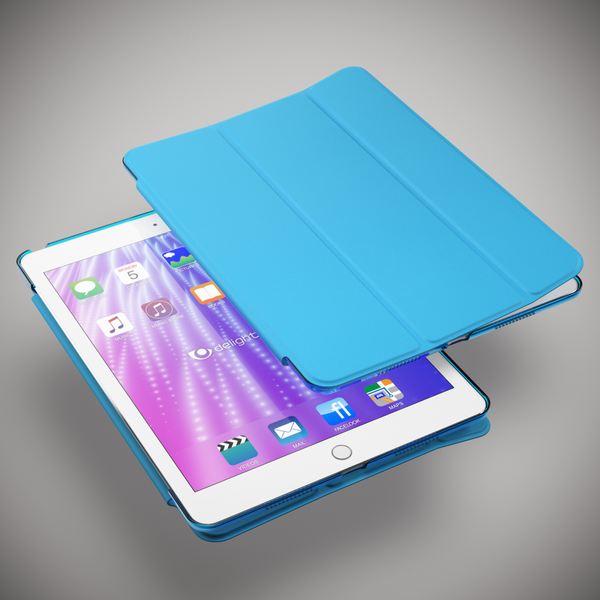 NALIA Smart-Case für Apple iPad Pro (9,7'), Ultra-Slim Cover Dünne Tablet Schutzhülle, Kunst-leder Hardcase Multi-Ständer Tasche, Display-Schutz& Backcover Flip-Case Klapphülle Sleeve - Blau – Bild 6