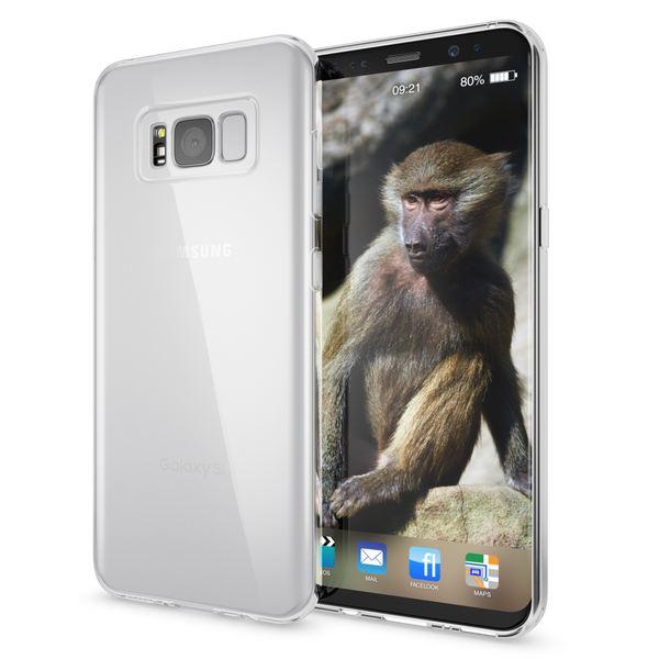 NALIA Handyhülle kompatibel mit Samsung Galaxy S8, Ultra-Slim Silikon Case Cover Crystal Schutzhülle Dünn Durchsichtig, Handy-Tasche Backcover Transparent Smart-Phone Hülle Bumper – Bild 2