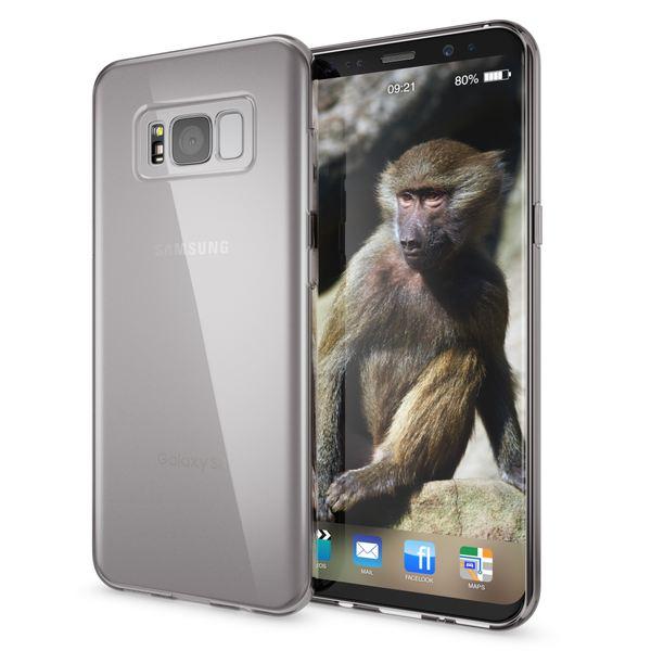 NALIA Handyhülle kompatibel mit Samsung Galaxy S8, Ultra-Slim Silikon Case Cover Crystal Schutzhülle Dünn Durchsichtig, Handy-Tasche Backcover Transparent Smart-Phone Hülle Bumper – Bild 7