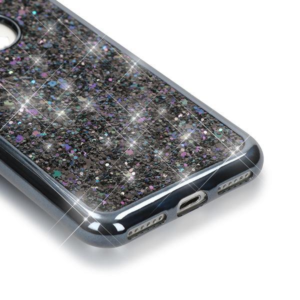 NALIA Handyhülle kompatibel mit iPhone 7, Glitzer Slim Back-Cover Case mit Maus Ohren, Glitter Silikon Hülle Schutzhülle Dünn, Strass Bling Etui Handy-Tasche Smart-Phone Bumper – Bild 3