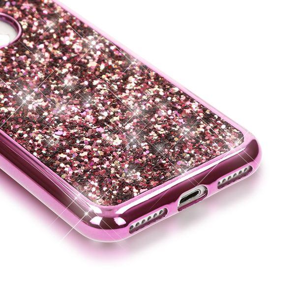 NALIA Handyhülle kompatibel mit iPhone 7, Glitzer Slim Back-Cover Case mit Maus Ohren, Glitter Silikon Hülle Schutzhülle Dünn, Strass Bling Etui Handy-Tasche Smart-Phone Bumper – Bild 8