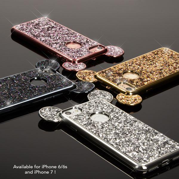NALIA Handyhülle für iPhone 6 6S, Glitzer Slim Back-Cover Case mit Maus Ohren Glitter Silikonhülle Schutz-Hülle Dünnes Strass Bling Etui Handy-Tasche Bumper für Apple iPhone 6S 6 – Bild 17