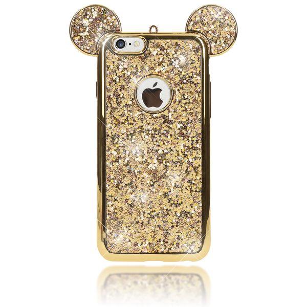NALIA Handyhülle kompatibel mit iPhone 6 6S, Glitzer Slim Back-Cover Case mit Maus Ohren, Glitter Silikon Hülle Schutzhülle Dünn, Strass Bling Etui Handy-Tasche Smart-Phone Bumper – Bild 12