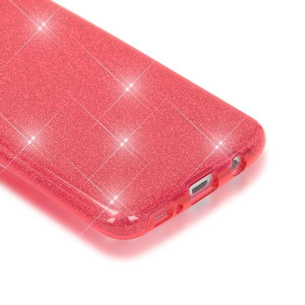 NALIA Handyhülle kompatibel mit Samsung Galaxy S7 Edge, Glitzer Slim Silikon-Case Hülle Back-Cover Schutzhülle, Glitter Sparkle Handy-Tasche Schale Bumper, Dünnes Bling Strass Smart-Phone Etui - Rot – Bild 3