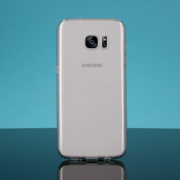 NALIA Handyhülle kompatibel mit Samsung Galaxy S7 Edge, Glitzer Slim Silikon-Case Hülle Back-Cover Schutzhülle, Glitter Sparkle Handy-Tasche Schale Bumper, Dünnes Bling Strass Smart-Phone Etui - Rot – Bild 4