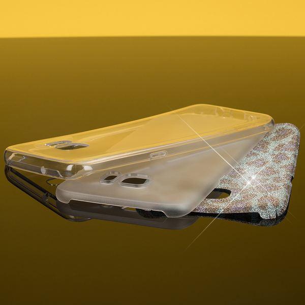 NALIA Handyhülle kompatibel mit Samsung Galaxy S7 Edge, Glitzer Slim Silikon-Case Hülle Back-Cover, Dünne Glänzende Sparkle Leopard Design Glitter Bling Bumper Smart-Phone Schutzhülle - Türkis Blau – Bild 5