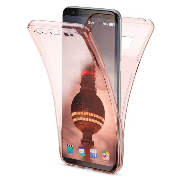 NALIA 360 Grad Hülle kompatibel mit Samsung Galaxy S8, Full Cover Rundum Doppel-Schutz Handyhülle, Dünnes Ganzkörper Silikon Case, Transparente Schutzhülle Vorne & Hinten Schale – Bild 2