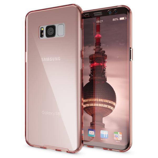 NALIA 360 Grad Hülle kompatibel mit Samsung Galaxy S8, Full Cover Rundum Doppel-Schutz Handyhülle, Dünnes Ganzkörper Silikon Case, Transparente Schutzhülle Vorne & Hinten Schale – Bild 7