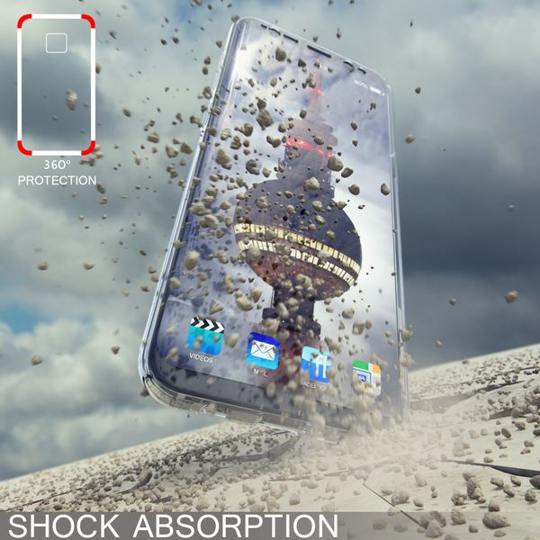 NALIA 360 Grad Hülle kompatibel mit Samsung Galaxy S8, Full Cover Rundum Doppel-Schutz Handyhülle, Dünnes Ganzkörper Silikon Case, Transparente Schutzhülle Vorne & Hinten Schale – Bild 24