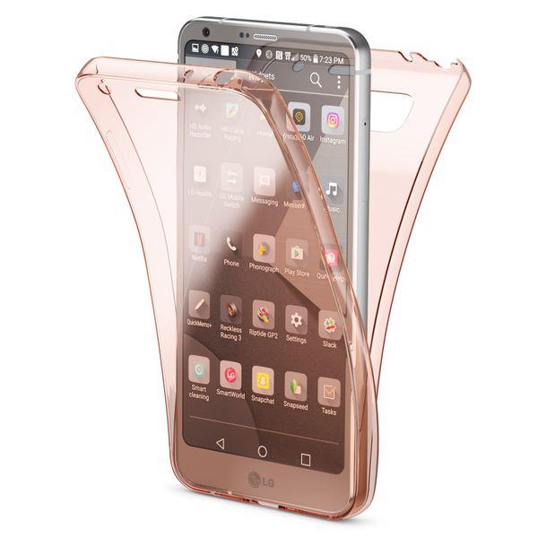 NALIA Handyhülle 360 Grad für LG G6, Full Cover vorne & hinten Rundum Doppel-Schutz-Hülle, Dünnes Ganzkörper Case Silikon Etui Handy-Tasche, Transparenter DisplaySchutz-Hülle & Rückseite – Bild 2
