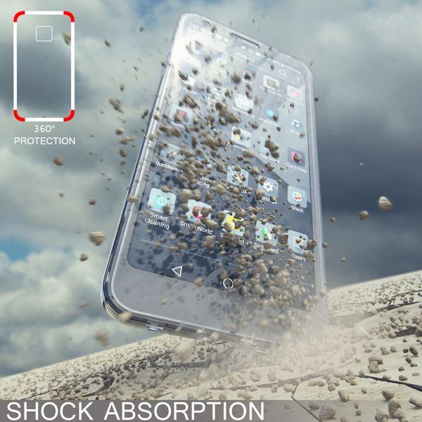 NALIA 360 Grad Hülle kompatibel mit LG G6, Full Cover Rundum Doppel-Schutz Handyhülle, Dünnes Ganzkörper Silikon Case, Transparente Schutzhülle Vorne & Hinten Handy-Tasche Schale – Bild 6
