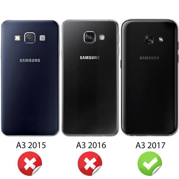 NALIA 360 Grad Hülle kompatibel mit Samsung Galaxy A3 2017, Full Cover Rundum Doppel-Schutz Handyhülle, Dünnes Ganzkörper Silikon Case, Transparente Schutzhülle Vorne & Hinten – Bild 5