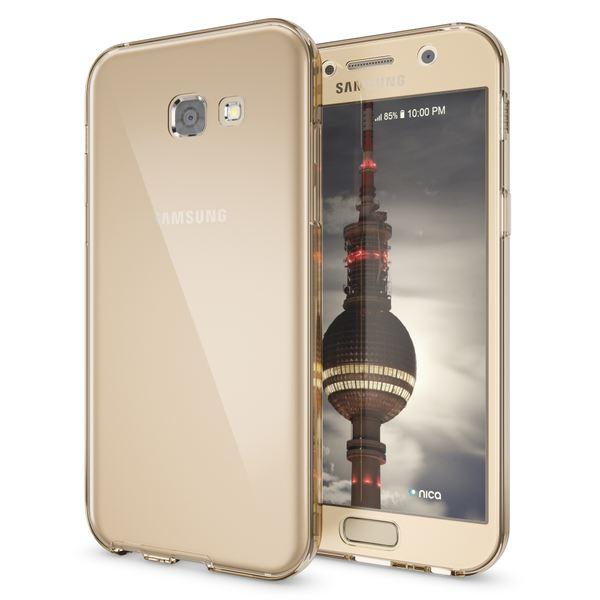 NALIA 360 Grad Hülle kompatibel mit Samsung Galaxy A5 2017, Full Cover Rundum Doppel-Schutz Handyhülle, Dünnes Ganzkörper Silikon Case, Transparente Schutzhülle Vorne & Hinten – Bild 10