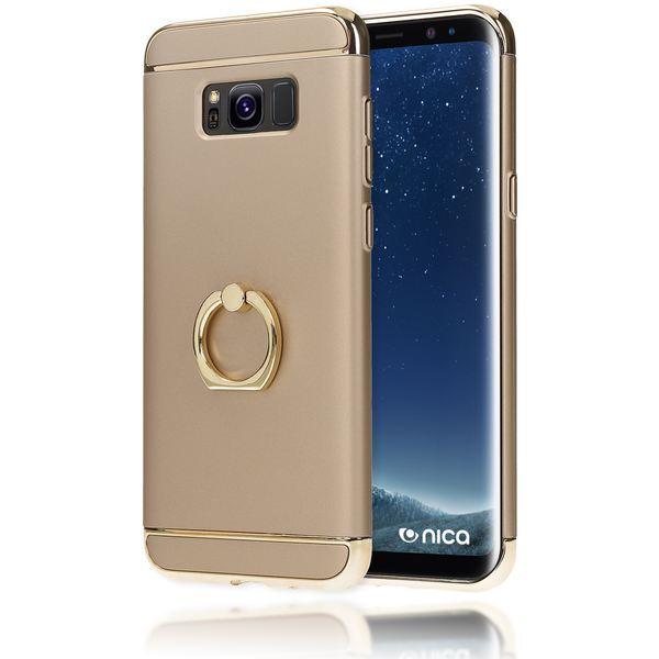 NALIA Ring-Handyhülle kompatibel mit Samsung Galaxy S8, Schutzhülle mit 360-Grad Finger-Halterung, Slim Hard-Case mit Stand-Funktion, Back-Cover Hülle Etui Dünn Matt Metall-Look – Bild 6