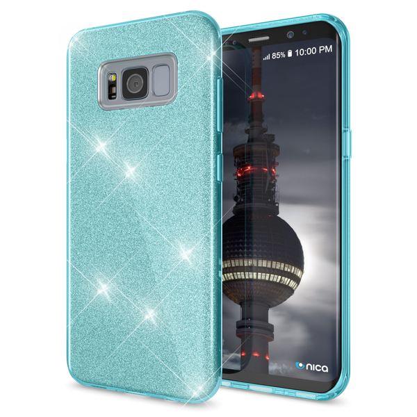 NALIA Handyhülle kompatibel mit Samsung Galaxy S8 Plus, Glitzer Slim Silikon-Case Back-Cover Schutzhülle, Glitter Sparkle Handy-Tasche Bumper, Dünne Bling Strass Smart-Phone Hülle – Bild 12