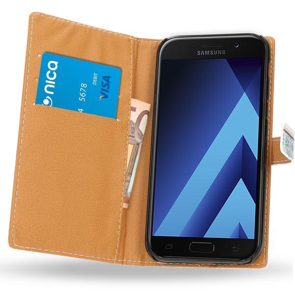 NALIA Klapphülle kompatibel mit Samsung Galaxy A5 2017, Slim Kunst-Leder Flip-Case Vegan, Motiv Full-Body Smart-Phone Etui Schutzhülle Dünn, Handyhülle Wallet Bumper Hülle – Bild 18