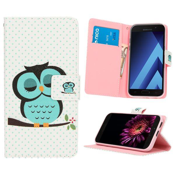 NALIA Klapphülle kompatibel mit Samsung Galaxy A3 2017, Slim Kunst-Leder Flip-Case Vegan, Motiv Full-Body Smart-Phone Etui Schutzhülle Dünn, Handyhülle Wallet Bumper Hülle – Bild 12