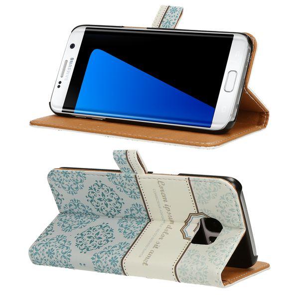 NALIA Klapphülle kompatibel mit Samsung Galaxy S7 Edge, Slim Kunst-Leder Flip-Case Vegan, Motiv Full-Body Smart-Phone Etui Schutzhülle Dünn, Handyhülle Wallet Bumper Hülle – Bild 16
