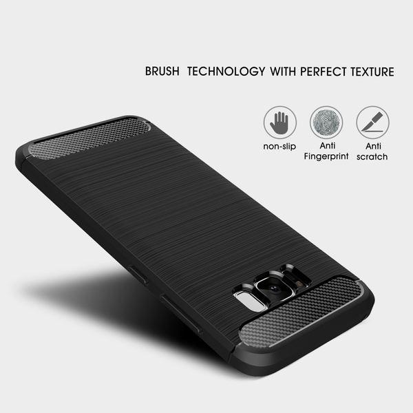 NALIA Handyhülle kompatibel mit Samsung Galaxy S8, Carbon-Look Design Ultra-Slim Silikon Case Back-Cover, Dünne Schutzhülle Etui Handy-Tasche Schale Skin Bumper Smart-Phone Hülle – Bild 3