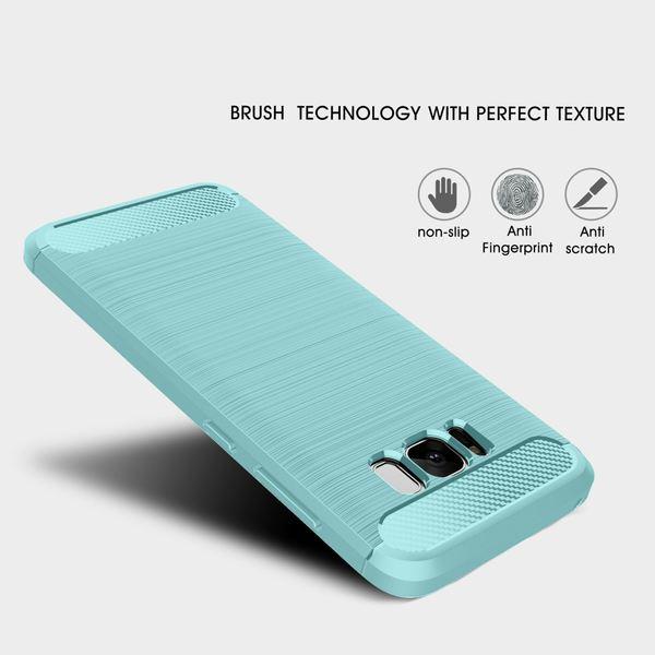 NALIA Handyhülle kompatibel mit Samsung Galaxy S8, Carbon-Look Design Ultra-Slim Silikon Case Back-Cover, Dünne Schutzhülle Etui Handy-Tasche Schale Skin Bumper Smart-Phone Hülle – Bild 11