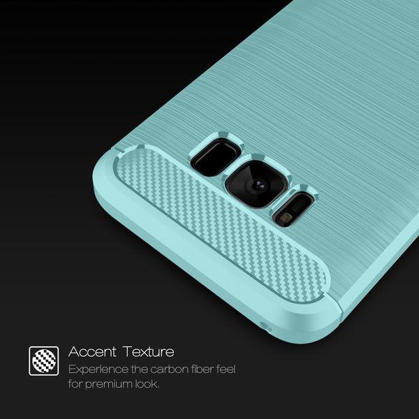 NALIA Handyhülle kompatibel mit Samsung Galaxy S8, Carbon-Look Design Ultra-Slim Silikon Case Back-Cover, Dünne Schutzhülle Etui Handy-Tasche Schale Skin Bumper Smart-Phone Hülle – Bild 12