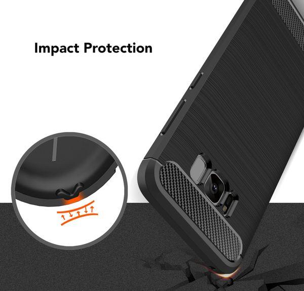 NALIA Handyhülle kompatibel mit Samsung Galaxy S8, Carbon-Look Design Ultra-Slim Silikon Case Back-Cover, Dünne Schutzhülle Etui Handy-Tasche Schale Skin Bumper Smart-Phone Hülle – Bild 7