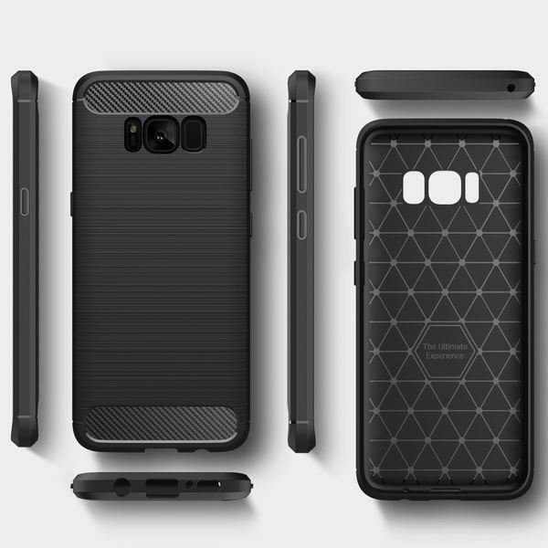 NALIA Handyhülle kompatibel mit Samsung Galaxy S8 Plus, Carbon-Look Design Ultra-Slim Silikon Case Back-Cover, Dünne Schutzhülle Etui Handy-Tasche Schale Bumper Smart-Phone Hülle – Bild 8