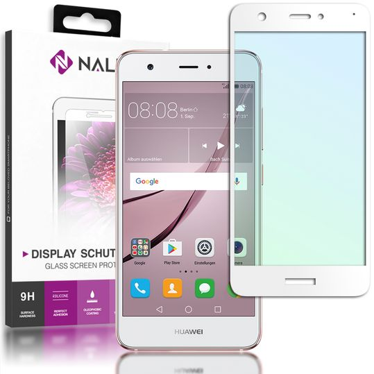 Huawei Nova Panzerglas Schutzfolie von NALIA, 2.5D Full-Cover Displayschutz-Folie, 9H Panzerfolie Schutz-Glas, Volle Handy Display-Abdeckung Panzer-Glasfolie Displayfolie Tempered Glass – Bild 9