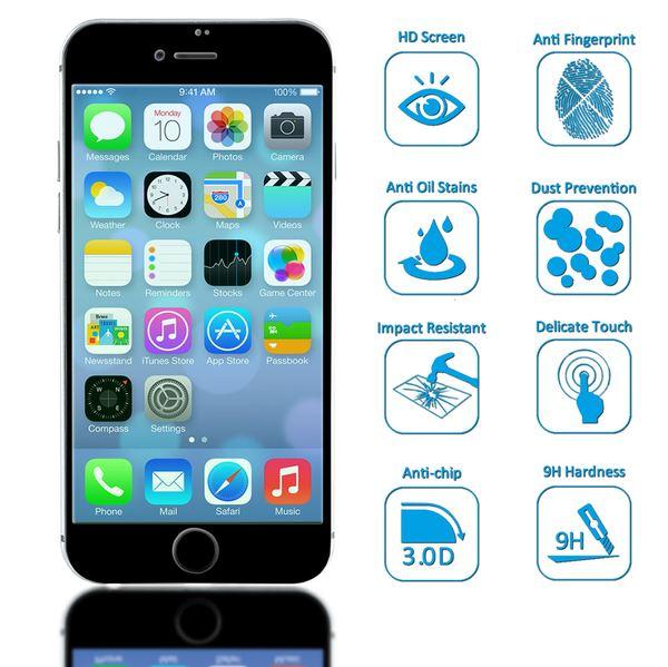 NALIA Schutzglas kompatibel mit iPhone 8 Plus / 7 Plus, 3D Full-Cover Displayschutz gehärtete Glas-Schutzfolie Bildschirm-Abdeckung, Schutz-Film Clear Screen Protector Tempered Glass – Bild 3