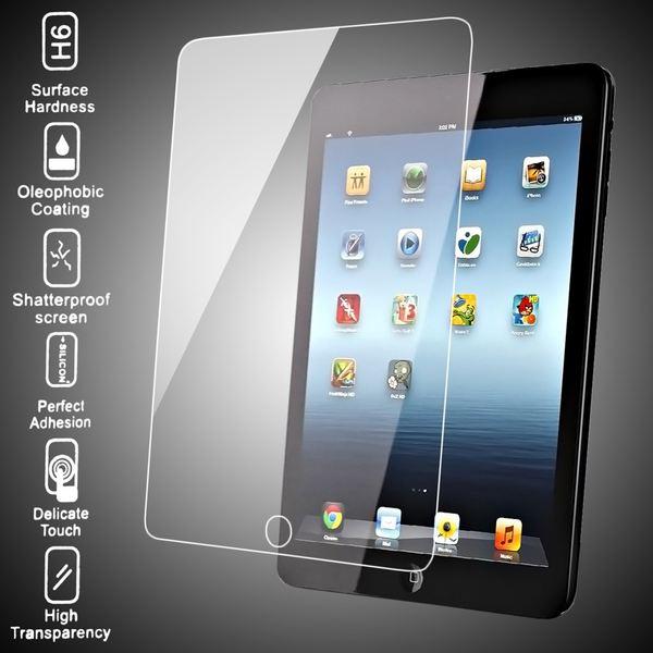 NALIA Schutzglas für Apple iPad Mini / Mini 2 / Mini 3, Full-Cover Displayschutz Tablet-Folie, 9H gehärtete Glas-Schutzfolie Bildschirm-Abdeckung, Schutz-Film HD Screen Protector - Transparent – Bild 3