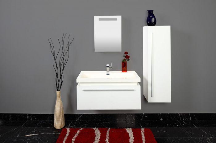 Benedomi Design Badezimmerset inkl. Waschbecken Weiß