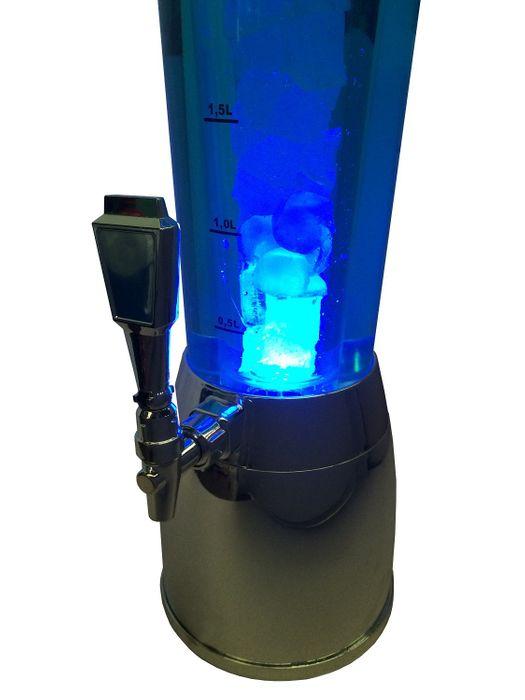 Getränkesäule chrom, 4 Liter mit Kühlröhre und LED – Bild 4