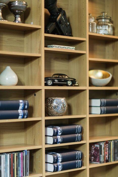 CD DVD Blu-ray Regal Medienregal Raumteiler 1080 CDs oder 504 DVDs in Holznachbildung – Bild 3